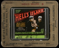 "Hell's Island (Columbia, 1930). Glass Slide (3.25"" X 4""). Action/Adventure. Directed by Edward H. Sloman. Star..."