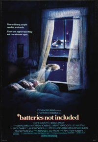 """Batteries not included (Universal, 1987). One Sheet (27"""" X 41""""). Residents (Hume Cronyn and Jessica Tandy) of..."""