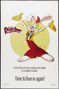 """Who Framed Roger Rabbit (Buena Vista, 1988). One Sheet (27"""" X 41""""). Style C. Disney seamlessly blended the wor..."""