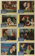 """Movie Posters:Hitchcock, Rebecca (United Artists, R-1946). Lobby Card Set of 8 (11"""" X 14"""").Alfred Hitchcock's first American film and his only one t...(Total: 8 Items)"""