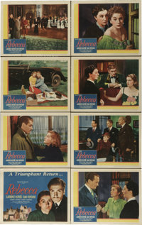 """Rebecca (United Artists, R-1946). Lobby Card Set of 8 (11"""" X 14""""). Alfred Hitchcock's first American film and..."""
