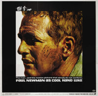 """Cool Hand Luke (Warner Brothers, 1967). Six Sheet (81"""" X 81""""). This gorgeous Paul Newman poster has very light..."""