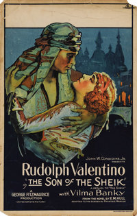 "The Son of the Sheik (United Artists, 1926). Window Card (14"" X 22""). In Rudolph Valentino's final film, the a..."