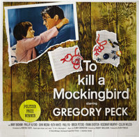 "To Kill a Mockingbird (Universal, 1963). Six Sheet (81"" X 81""). Harper Lee's endearing novel was brought to th..."