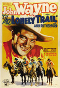 "Movie Posters:Western, The Lonely Trail (Republic, 1936). One Sheet (27"" X 41""). JohnWayne stars in one of the numerous ""B"" Westerns he would make..."