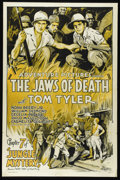 "Movie Posters:Serial, Jungle Mystery (Universal, 1932). One Sheet (27"" X 41""). ""Jaws of Death,"" Chapter Seven in the popular ""Jungle Mystery"" seri..."