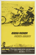 """Movie Posters:Drama, Easy Rider (Columbia, R-1972). One Sheet (27"""" X 41""""). Highlydesirable and incredibly scarce, this 1972 re-release poster sh..."""