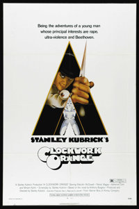 "A Clockwork Orange (Warner Brothers, 1971). One Sheet (27"" X 41""). Stanley Kubrick's masterpiece about a charm..."