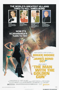 "The Man With the Golden Gun (United Artists, 1974). One Sheet (27"" X 41"") Style B. British Intelligence has re..."