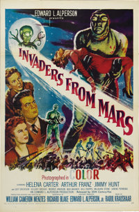 "Invaders From Mars (20th Century Fox, R-1955). One Sheet (27"" X 41""). The science-fiction, red-scare boom of t..."