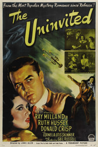"The Uninvited (Paramount, 1944). One Sheet (27"" X 41""). An excellent romance/ghost story starring Ray Milland..."