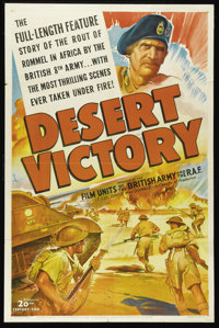 """Desert Victory (20th Century Fox, 1943). One Sheet (27"""" X 41""""). British Army and Royal Air Force camera operat..."""