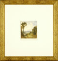 Fine Art:Paintings, JOHN HENRY HILL (American 1832 - 1922) Italian Landscape (afterTurner) Watercolor on paper 3.5in. x 3in. Inscribed 'Cro...