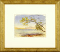 Fine Art - Painting, American:Modern  (1900 1949)  , JOHN HENRY HILL (American 1839 - 1922). Lake with Tree Branch.Watercolor on paper. 4.5 x 6in.. Unsigned. ...