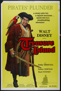 "Treasure Island (Buena Vista, R-1975). Poster (40"" X 60""). Adventure. Directed by Byron Haskin. Starring Bobby..."
