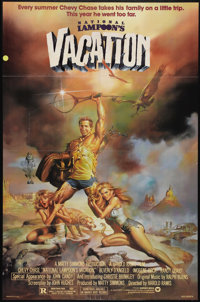 "National Lampoon's Vacation (Warner Brothers, 1983). One Sheet (27"" X 41""). Chevy Chase takes his family (Beve..."