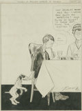 Illustration:Magazine, CLARE BRIGGS (American 1875-1930). Cartoon Illustration. When aFeller Needs a Friend, September 12, 1921. Ink on paper. 14 ...