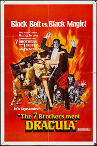 """The Seven Brothers Meet Dracula (Dynamite Entertainment, 1979). One Sheet (27"""" X 41""""). Horror"""