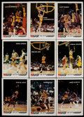 Basketball Cards:Sets, 1982 BASF Los Angeles Lakers Complete Set (13)....