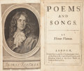 Books:Literature Pre-1900, Thomas Flatman. Poems and Songs. London: S[arah] &B[ennet] G[riffin]. for Benjamin Tooke and Jonathan Edwin, 16...
