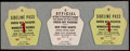 Football Collectibles:Tickets, 1962 Green Bay Packers Press Passes Lot of 3....