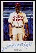 Baseball Collectibles:Others, Bill Wright Signed Postcard....