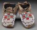 American Indian Art:Beadwork and Quillwork, A Pair of Cheyenne Beaded Hide Moccasins... (Total: 2 )