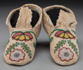 American Indian Art:Beadwork and Quillwork, A Pair of Plateau Beaded Hide Moccasins. ... (Total: 2 )