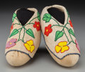 American Indian Art:Beadwork and Quillwork, A Pair of Potawatomi Beaded Hide Moccasins... (Total: 2 )