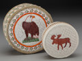 American Indian Art:Baskets, Two Chippewa Quilled Birchbark Boxes ... (Total: 2 )