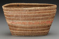 American Indian Art:Baskets, A Makah Polychrome Twined Purse...