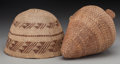 American Indian Art:Baskets, Two Paiute Twined Basketry Items... (Total: 2 )