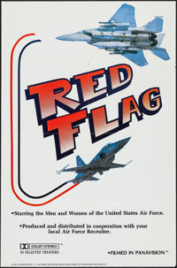 """Red Flag & Other Lot (U. S. Air Force, 1980s). One Sheet (27"""" X 41"""") and Uncut Pressbook (12 Pages, 13.25&..."""