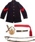 Military & Patriotic:Indian Wars, Indian Wars and Spanish-American War: Assorted Militaria.... (Total: 5 Items)