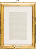 Autographs:Celebrities, Pat Garrett: A Poignant 1894 Signed Pencil Letter to His Wife....