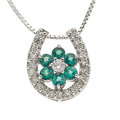 Estate Jewelry:Necklaces, Diamond, Green Topaz, White Gold Pendant-Necklace. ...