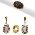 Estate Jewelry:Lots, Multi-Stone, Cultured Pearl, Gold Jewelry. ... (Total: 4 Items)