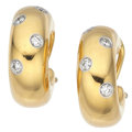Estate Jewelry:Earrings, Diamond, Platinum, Gold Earrings, Tiffany & Co.. ...