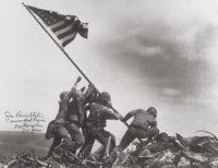 Joe Rosenthal (American, 1911-2006) Raising the Flag on Mt. Suribachi, Iwo Jima, 1945 Gelatin silver