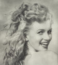 Photographs:Gelatin Silver, Andre de Dienes (American, 1913-1985). Marilyn Monroe, TobayBeach, 1949. Gelatin silver, printed later. 22-1/8 x 19-3/4...