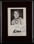 Basketball Collectibles:Photos, Rick Barry Signed Photograph....