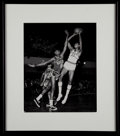 Basketball Collectibles:Photos, Wilt Chamberlain and Bill Russell Signed Photograph....