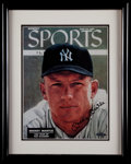 "Baseball Collectibles:Photos, Mickey Mantle Signed Upper Deck Authenticated ""Sports Illustrated""Print...."