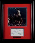 Basketball Collectibles:Photos, Hal Greer Signed Display....
