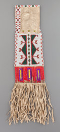 American Indian Art:Beadwork and Quillwork, A Sioux Beaded Hide Tobacco Bag . c. 1900...