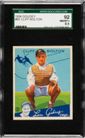 Baseball Cards:Singles (1930-1939), 1934 Goudey Cliff Bolton #65 SGC 92 NM/MT+ 8.5 - Pop Two, None Higher. ...