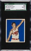 Basketball Cards:Singles (Pre-1970), 1948 Bowman Jim Pollard #66 SGC 92 NM/MT+ 8.5....