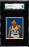Basketball Cards:Singles (Pre-1970), 1948 Bowman Tommy Byrnes #64 SGC 92 NM/MT+ 8.5 - Pop One, NoneHigher....