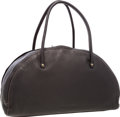 """Luxury Accessories:Accessories, Miu Miu Dark Brown Pebbled Leather Bowling Bag. Excellent Condition. 16.5"""" Width x 10"""" Height x 6"""" Depth . ..."""