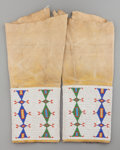 American Indian Art:Beadwork and Quillwork, A Pair of Cheyenne Woman's Beaded Hide Leggings. c. 1900... (Total:2 )